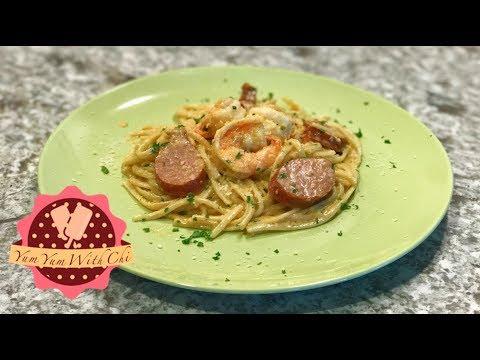 Quick and Easy: Cajun Shrimp & Sausage Pasta