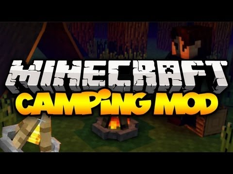 Minecraft: CAMPING MOD! (Tents, Campfires & more!) | Mod Showcase