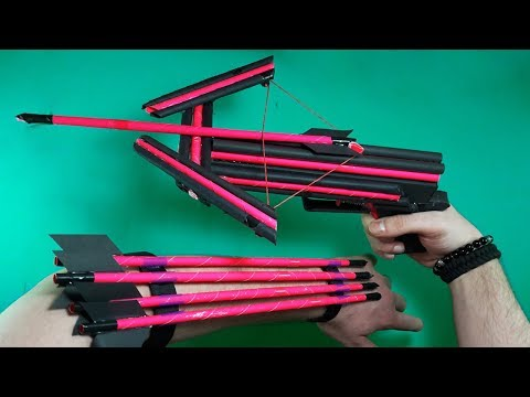 How To Make A Paper CROSSBOW | NEW MODEL | TOY WEAPONS
