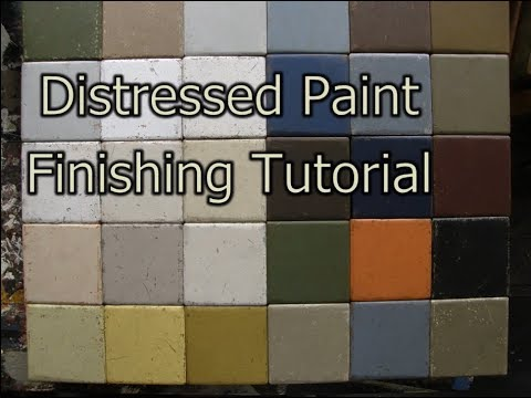 Distressed Paint Finishing Tutorial Part 1: CRACKLE