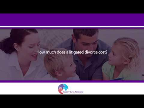 How much does a litigated divorce cost?