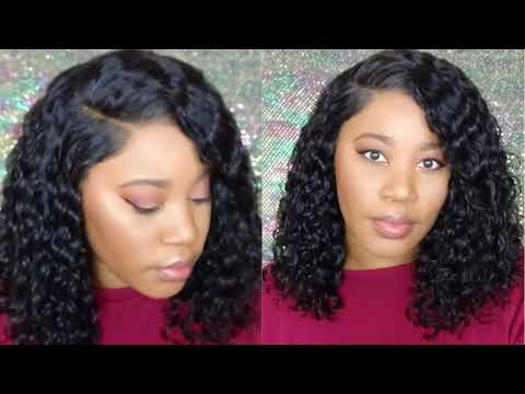 Premium Lace Wig Review Pre Plucked Bob deep wave full lace wigs ft premiumlacewig.com