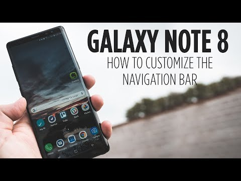 Galaxy Note 8 - How to Customize the Navigation Bar