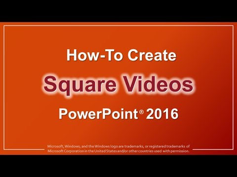How to Create Square Videos in PowerPoint 2016