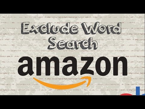 How to exclude a word from Amazon search results