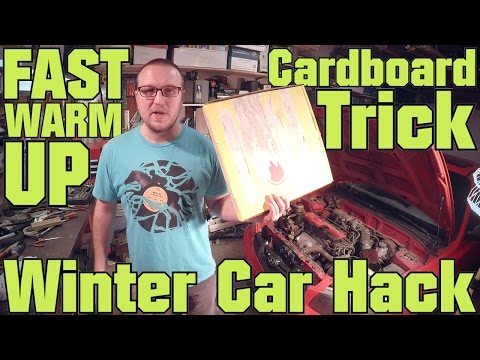 How to Warm Up Car Fast - Winter Car Hack - Radiatior Cardboard Trick