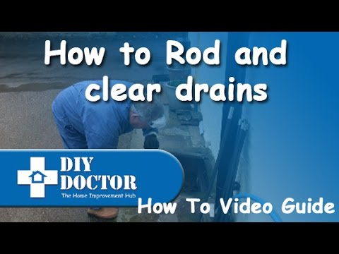 Rodding and clearing blocked drains