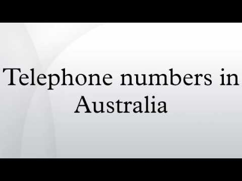 Telephone numbers in Australia