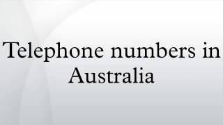 Telephone numbers in Australia