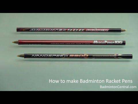 How to turn broken badminton racket into a pen