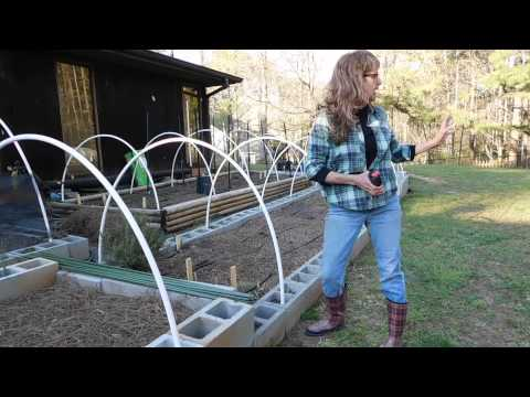 How To Make A Cover For Your Garden Beds With PVC Hoops