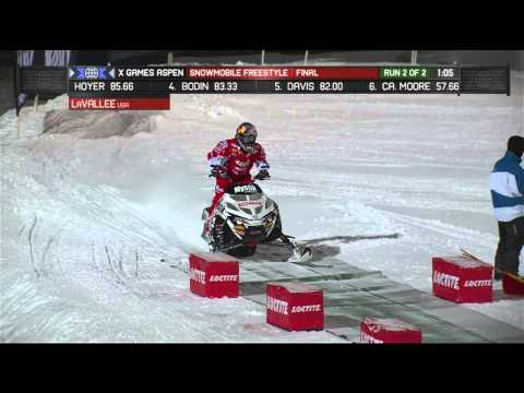 LaVallee gets gold in Snowmobile Freestyle