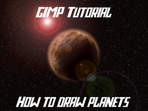 Tutorial: how to draw planets with GIMP