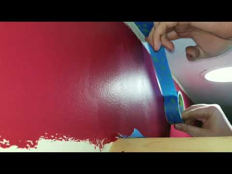 Fast & easy way to tape ceiling for paint