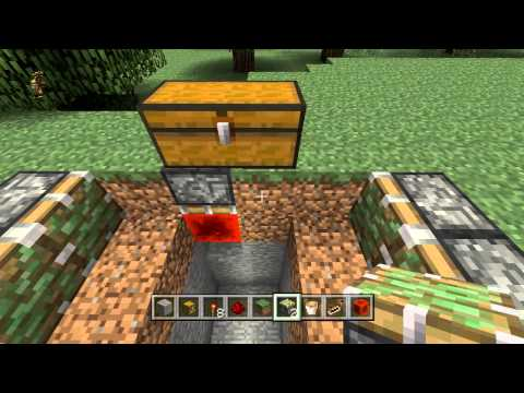 Minecraft: How to Make a Trap Chest Pitfall Trap! | Tutorial [Xbox & Playstation]