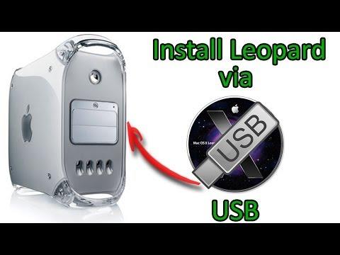Install Mac OS X 10.5 Leopard via USB on PowerPC Macs