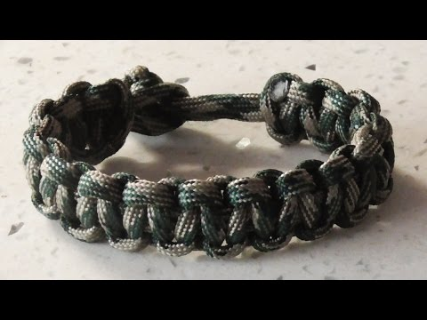 Easy Paracord - The Classic Cobra Weave Survival Bracelet Without Buckle.