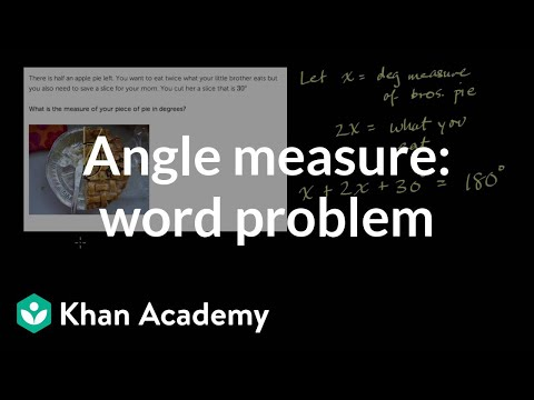 Find measure of angles in a word problem | Geometry | 7th grade | Khan Academy