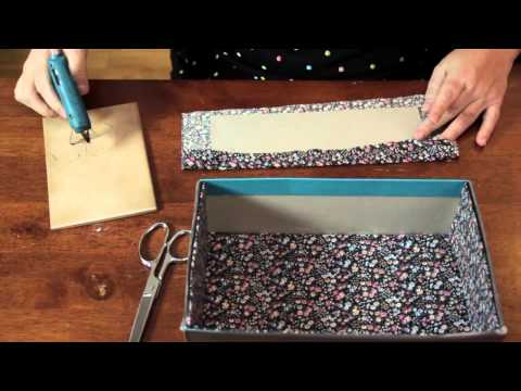 Lining a Cardboard Box With Fabric : Cool & Functional Crafts