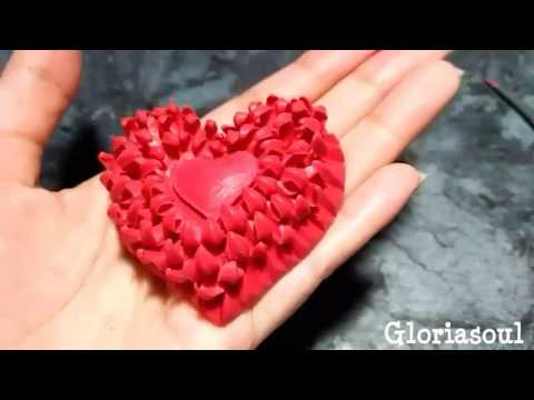 Easy flower heart carving