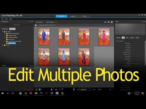 Editing Multiple Photos in Corel Paintshop Pro