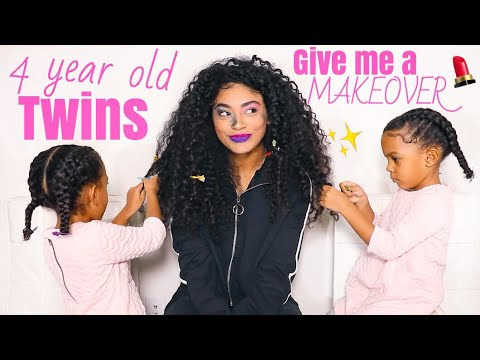 4 YEAR OLD TWINS GIVE ME A MAKEOVER! *hair & makeup* The McClure Twins | jasmeannnn