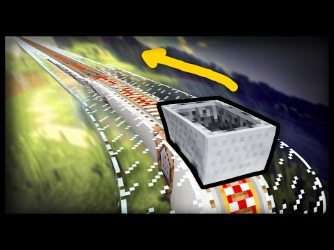 MCPE - How to Make an INFINITE RAILWAY With Only One Command!
