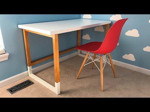 Build a Modern Desk with an Ikea Desktop