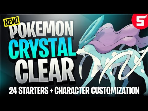 Pokemon Crystal Clear - GBC Rom Hack With 24 Starters, Open World & Customizable Characters (2018)