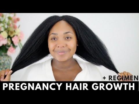 Pregnancy Hair Growth + Routine Update   Natural Hair