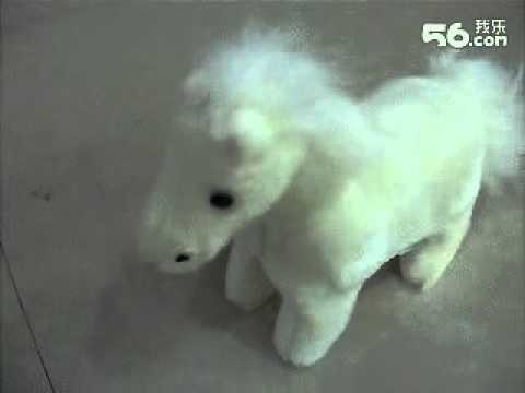 White Stuffed Horse with Sound Plush Animals Toddler Toy
