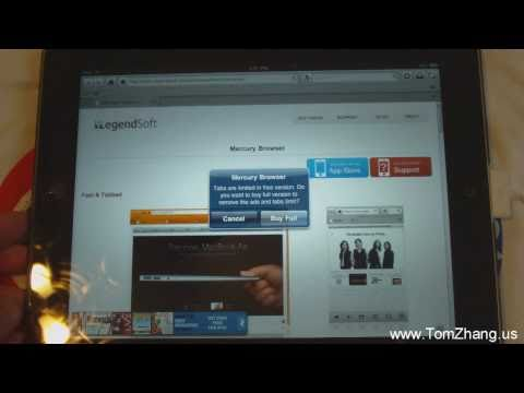 Safari Alternative: Mercury Web Browser Official App for iPad / iPad 2 / iPhone / iPod Touch HD