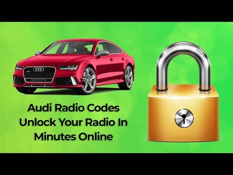 Audi Concert Radio Codes Unlock Your Stereo Online