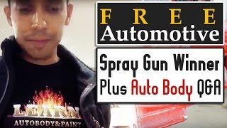 Free Automotive Spray Gun Winner Plus Auto Body Q&A