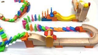 Dominoes + Ball Run with H5 Domino Creations and Trix Track