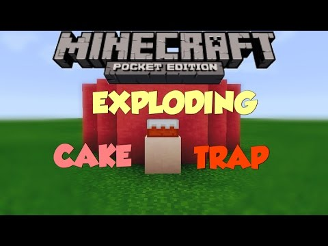 ✔️Minecraft PE 1.2.6 | EXPLODING CAKE TRAP! - Tutorial