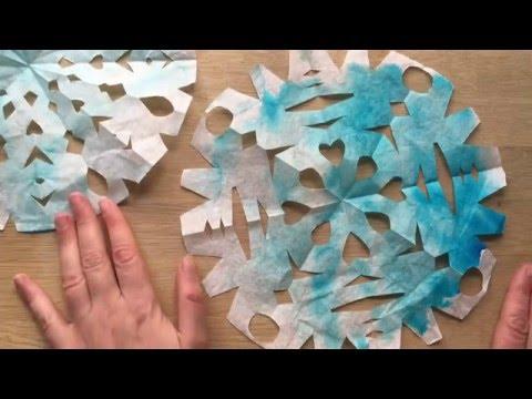 EASY DIY Coffee Filter Snowflakes
