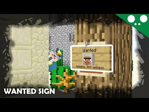 (☞ ͡° ͜ʖ ͡°)☞ Minecraft l How to make a Wanted sign