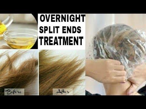 Overnight Split ends Treatment|Homemade hair mask for Split ends|Remove split ends overnight