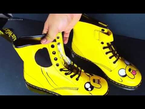 Dr Martens Jake the Dog Boots Unboxing Hoverboard test Adventure time