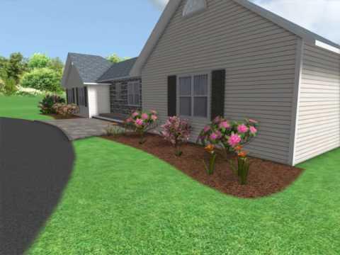 Front Yard Hardscape and Landscape Design