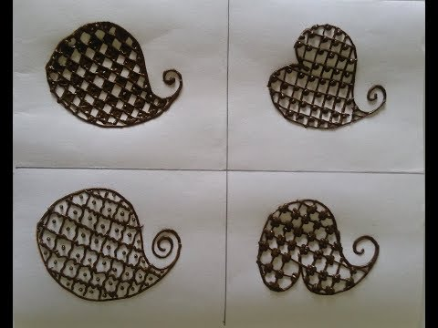 How to fill different type of checks design of mehndi  easy mehndi tutorial 6