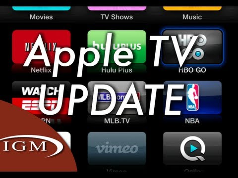 Apple TV update with HBO Go, WatchESPN (v5.3)
