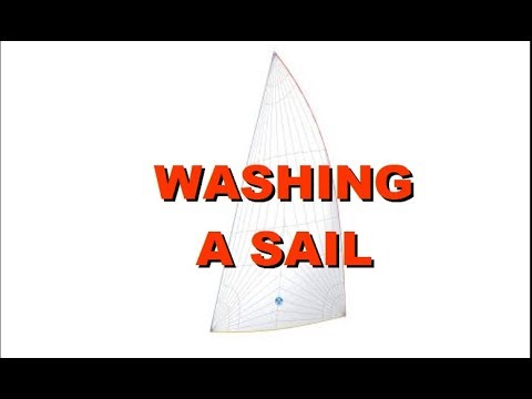 WASHING A SAIL