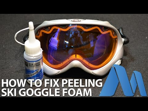 How to Fix / Repair Peeling Foam from Ski Goggles