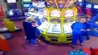Old Lady Robs Arcade Pusher