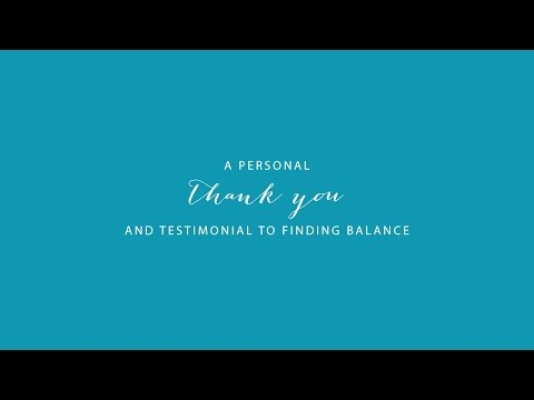 A Thank You to FINDINGbalance / Lasting Freedom Staff