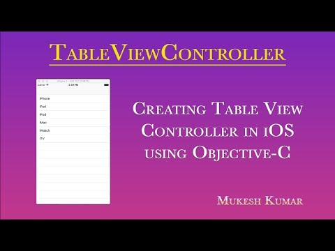 How to create Table View Controller iOS in Objective-C ?