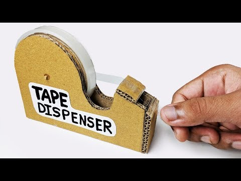 How to make TAPE Cutter Dispenser Machine from cardboard DIY at Home