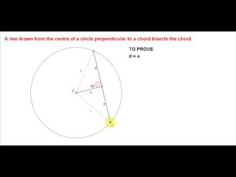 Perpendicular Bisector of a Chord
